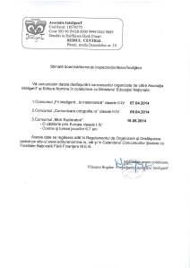 scrisoare date concursuri I-IV